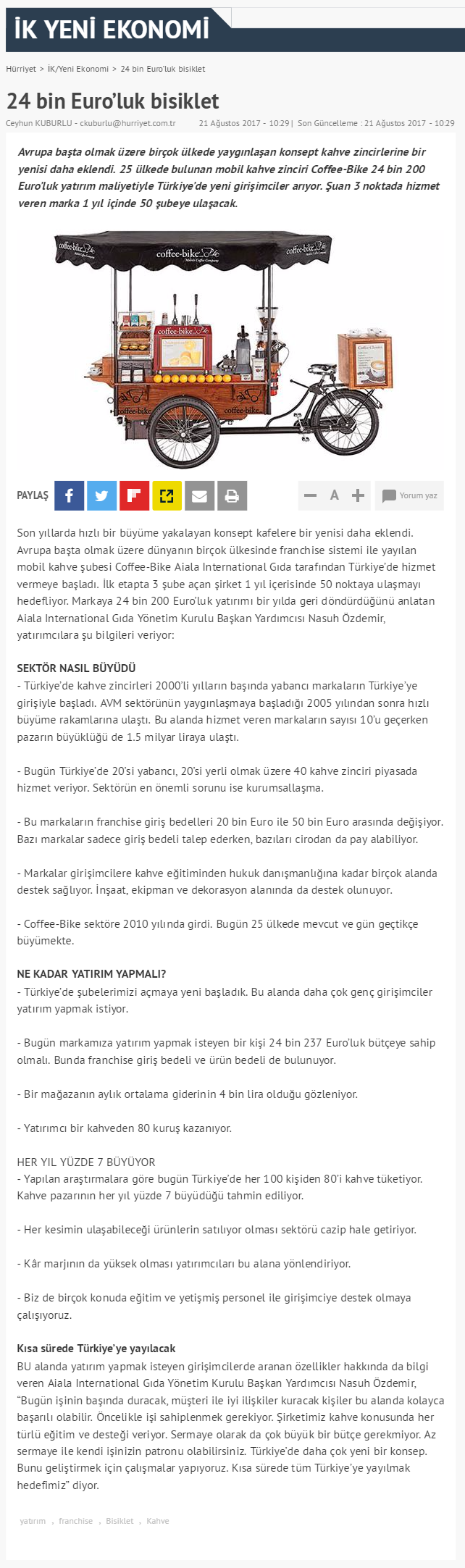 Coffee-Bike Hürriyet
